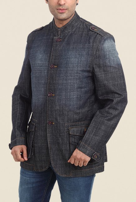 Park Avenue Grey Solid Jacket