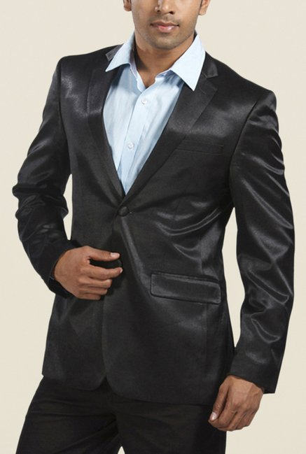 Park Avenue Black Solid Blazer