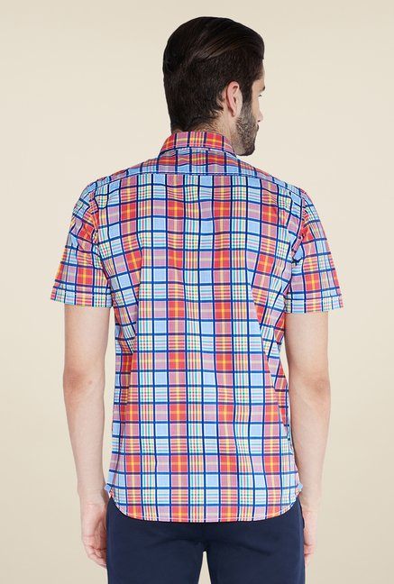 Parx Orange Checks Shirt