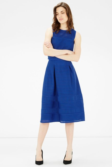 Warehouse Royal Blue A Line Skirt