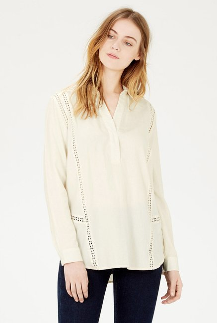 Warehouse Cream Solid Top