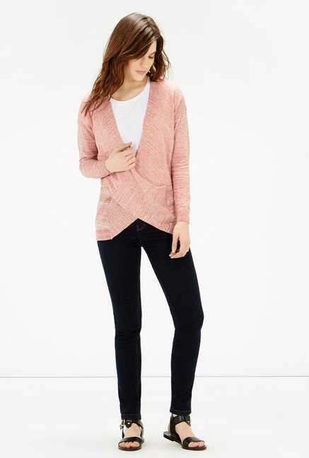 Warehouse Pink Textured Top