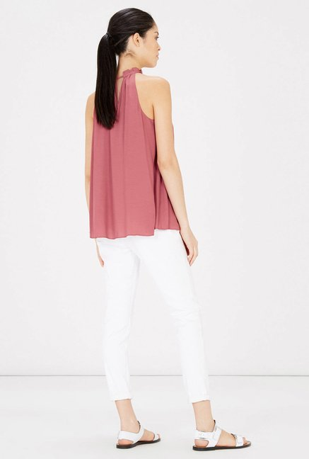 Warehouse Pink Halter Neck Top