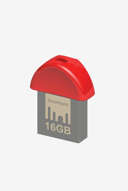 Strontium Nano USB 3.0 16 GB Utility Pen Drive (Red & Grey)