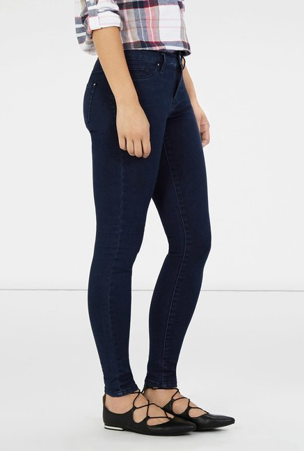 Warehouse Navy Skinny Fit Jeans