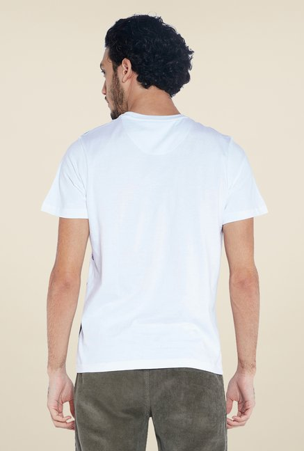Parx White Graphic Printed T Shirt