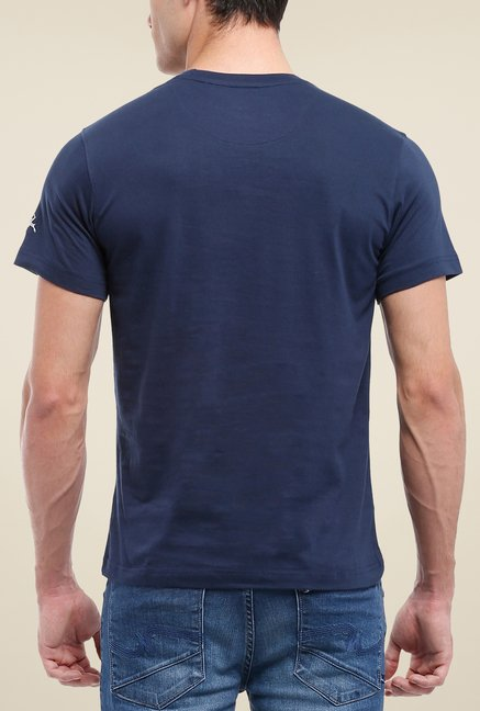 Parx Navy Graphic Printed T Shirt