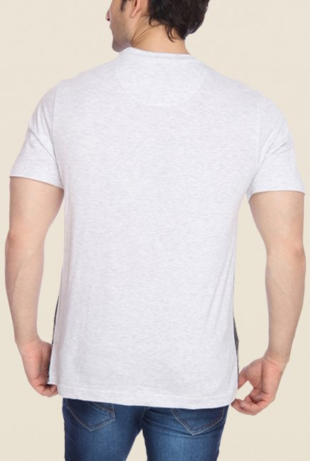 Parx Light Grey Graphic Printed T Shirt