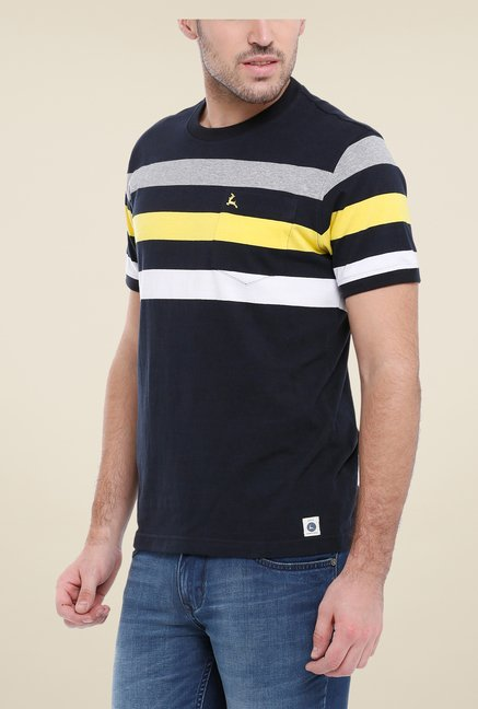 Parx Black Striped T Shirt