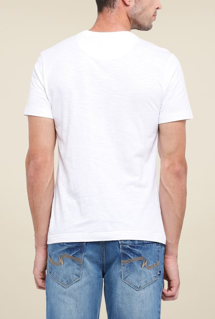 Parx White Printed T Shirt