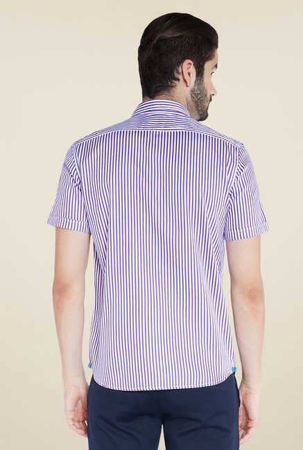 Parx Purple Striped Shirt