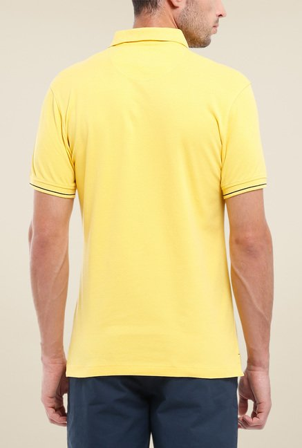 Parx Yellow Solid Polo T Shirt