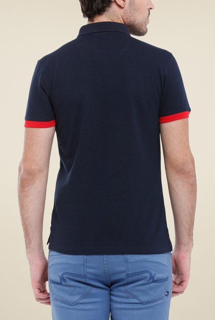 Parx Black Solid Polo T Shirt