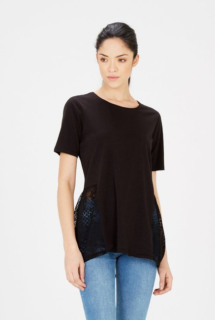 Warehouse Black Lace Top