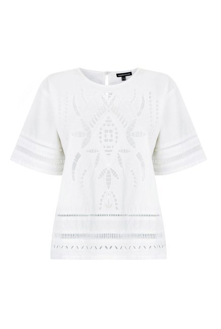 Warehouse White Cutwork Top