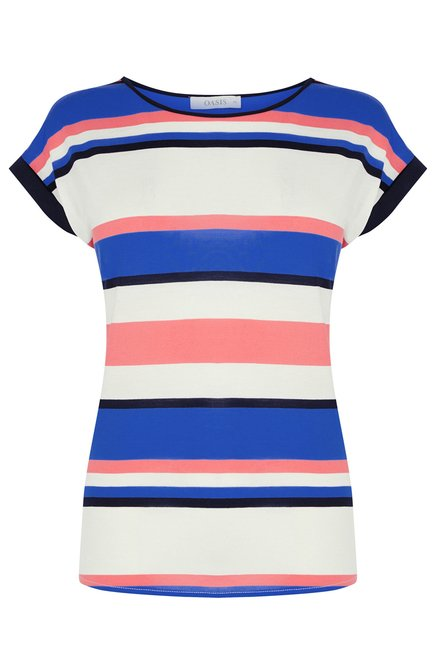 Oasis Multicolor Striped Slim Fit Top