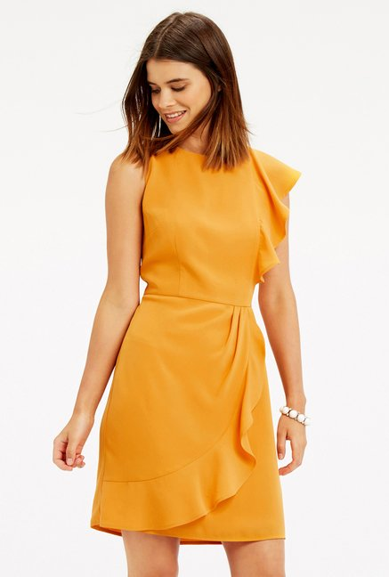 Oasis Ochre A Line Dress
