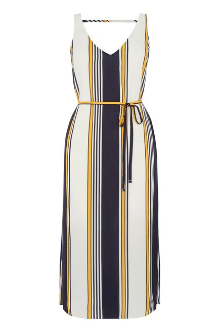 Oasis Multicolor Striped Shift Dress