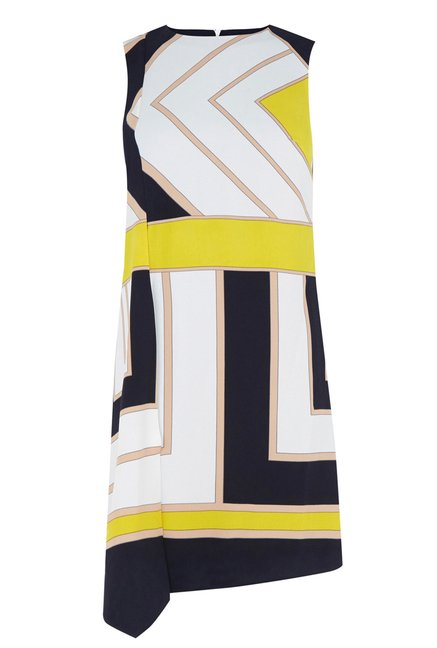 Oasis Multicolor Printed Shift Dress