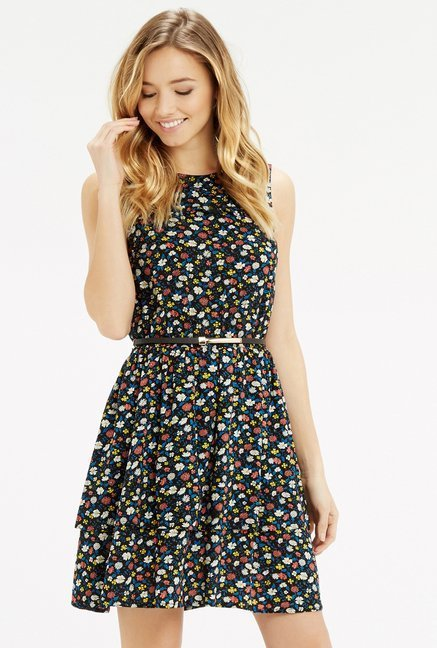 Oasis Multicolor Floral Ruffled Dress