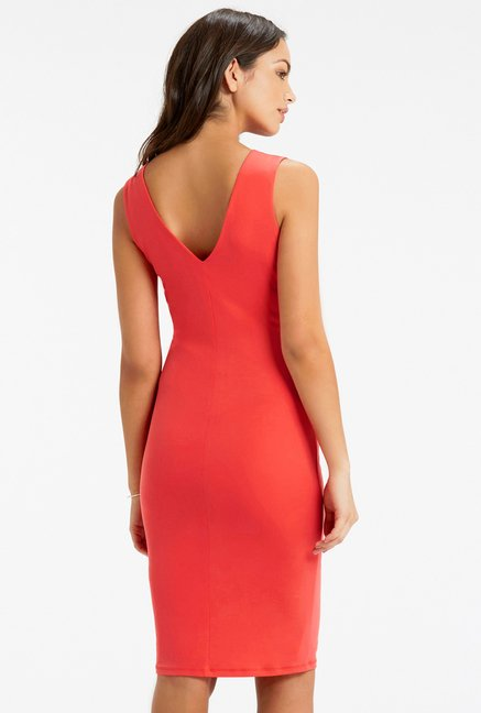 Oasis Coral Jersey Dress