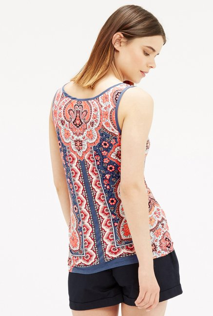 Oasis Blue Paisley Print Top