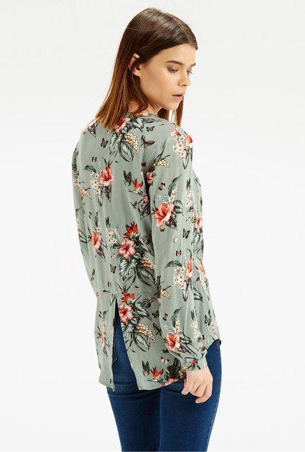 Oasis Green Floral Printed Shirt