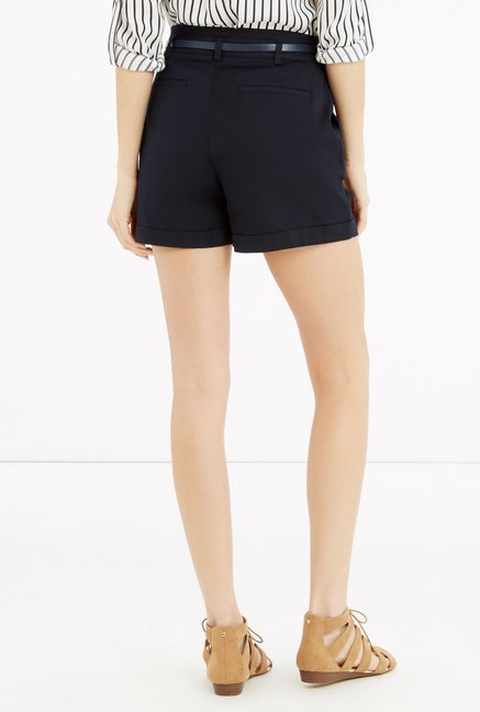 Oasis Navy Solid Shorts