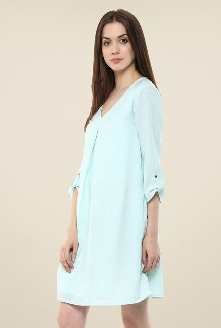 Femella Aqua Printed Shift Dress