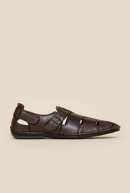 Buckaroo Fisher Brown Leather Sandals