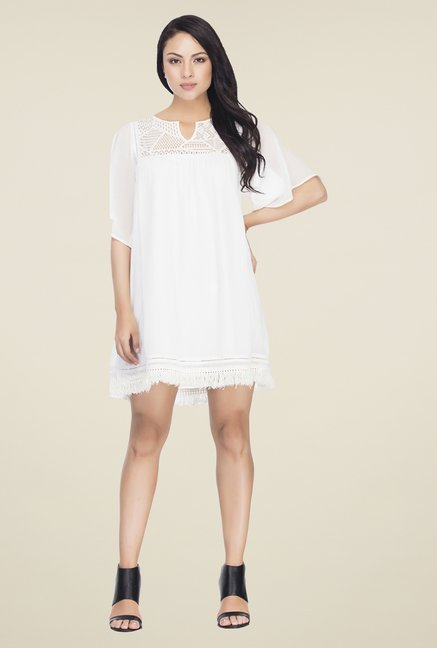 Femella White Lace Dress