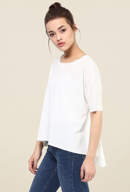 Femella White Asymmetric Top