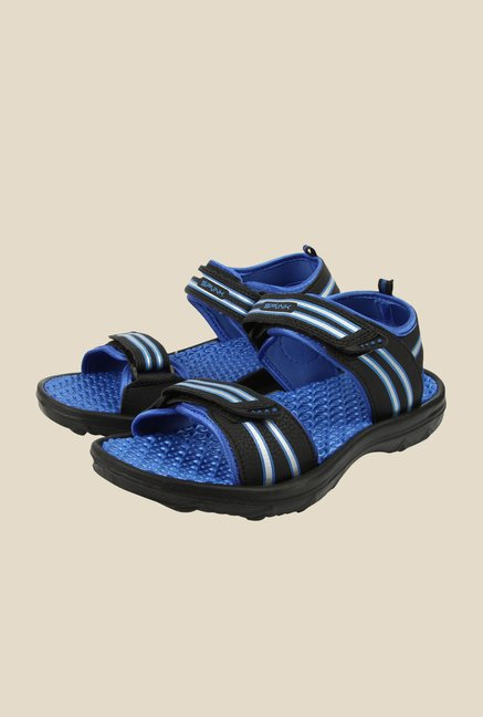 Spunk Astra Black & Aqua Blue Floater Sandals