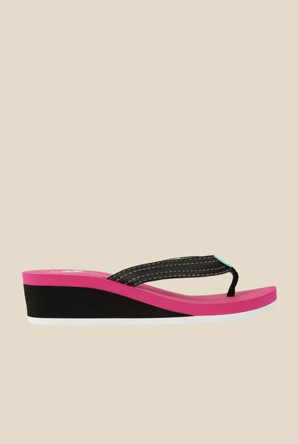 Spunk Erin Black & Pink Wedges