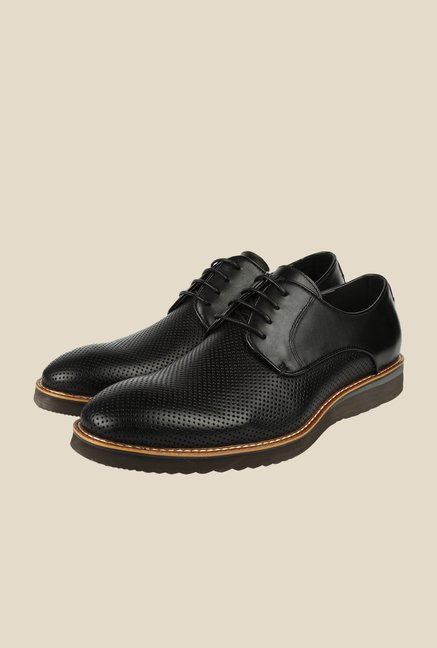 Spunk Vero Black Derby Formal Shoes