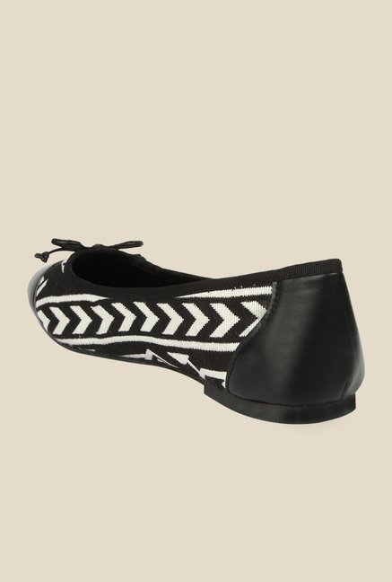Spunk Cheer Black & White Ballerinas