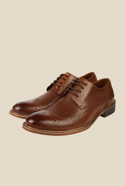 Spunk Coffee Brown Formal Brogue Shoes