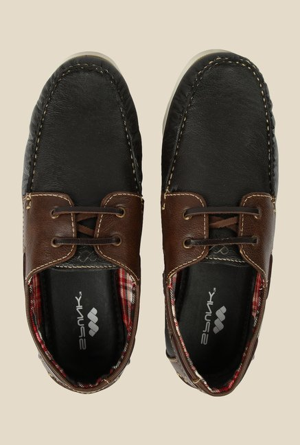 Spunk Drift Black & Brown Boat Shoes