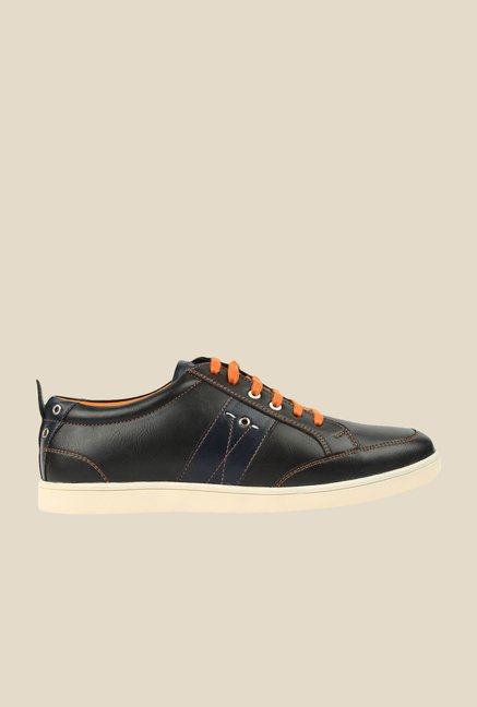 Spunk Dakota Black & Orange Sneakers