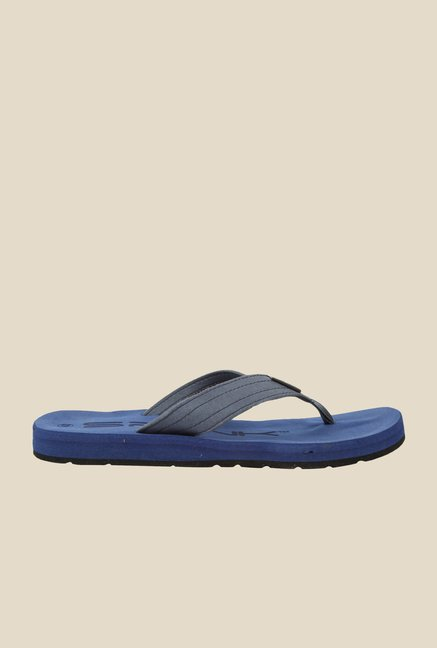 Spunk Flinch Grey & Navy Flip Flops