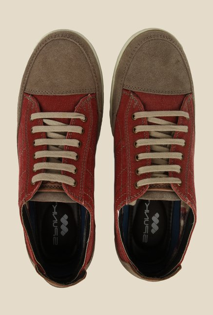 Spunk Rodeo Red & Brown Sneakers
