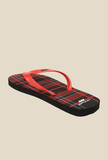 Spunk Adza Red & Black Flip Flops