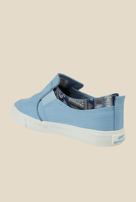 Spunk Fossil Light Blue Plimsolls
