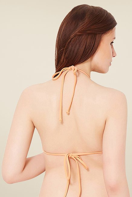 Amante Orange Padded String Bikini Top Swimwear