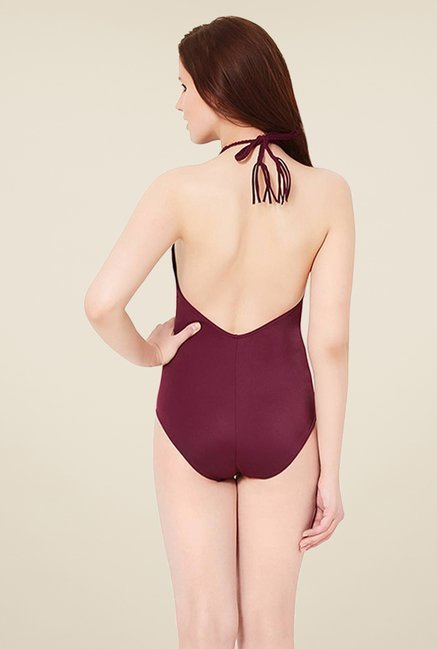 Amante Purple One Piece Swimwear
