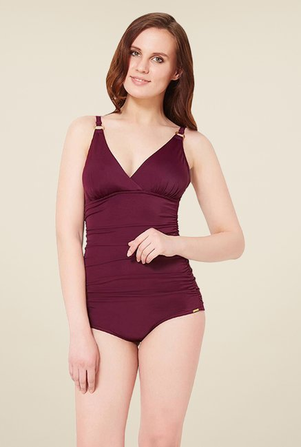 Amante Purple Shaping Swimsuit