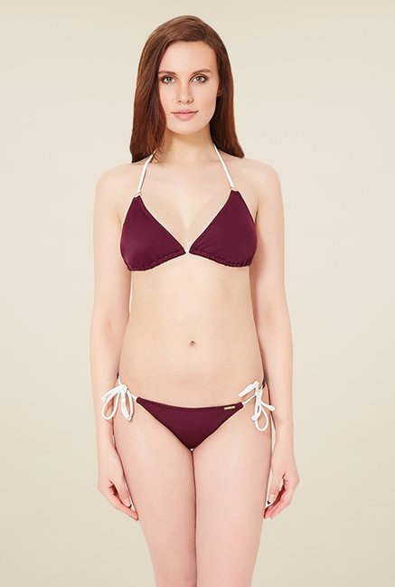 Amante Purple String Bikini Bottom Swimwear