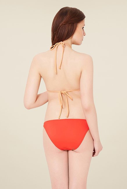 Amante Orange String Bikini Bottom Swimwear