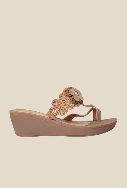 Grendha Brown Wedge Heeled Sandals