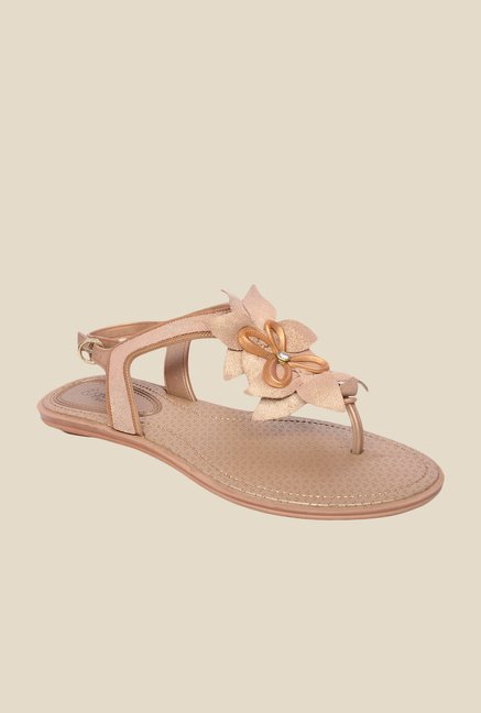 Grendha Golden Flat Sandals